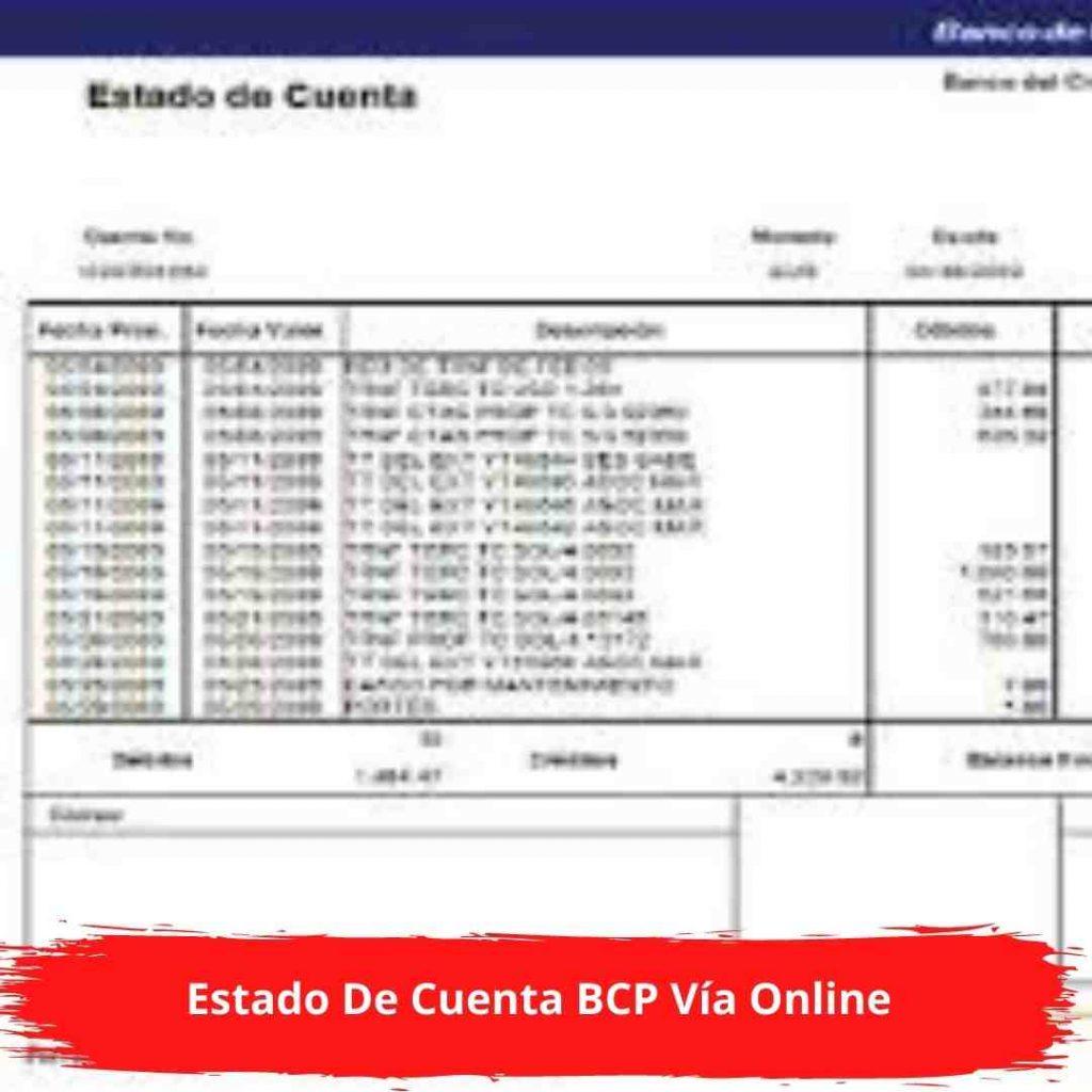 Estado De Cuenta BCP online