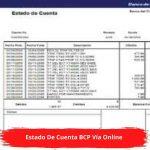 Estado De Cuenta BCP Vía Online